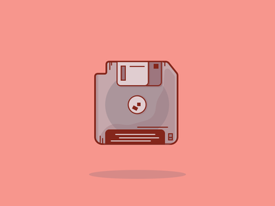 1/100 The Floppy Disk sketchapp graphic design save floppydisk retro 100days logodaily dribble oldschool vector logo