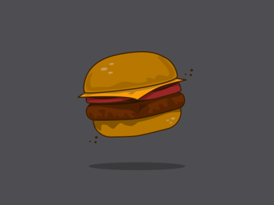 14/100 Burger with cheddar and tomatoes.