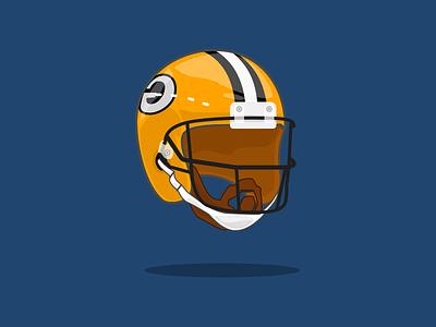 18/100 Aaron Rodgers NFL icon graphic design minnesota vikings quarterback greenbaypackers touchdown gopackgo packers football helmet aaronrodgers espn nfl 100dayschallenge illustration design sketchapp logo vector 100days
