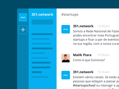 351 | Startup Portugal slack identity brand 351