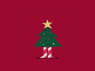 Christmas Tree Boi gif character animation character 2d animation motion graphics motion design mograph after effects adobe