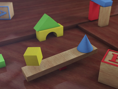 Elementary Loop - Seesaw gif cinema 4d maxon motion graphics motion design mograph after effects adobe