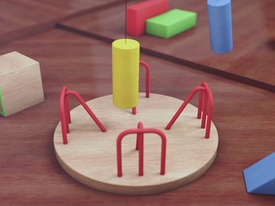 Elementary Loop - Carousel 3d cinema 4d maxon gif animation motion graphics motion design mograph after effects adobe