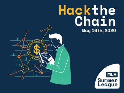 hack the chain event adobe illustrator graphic  design illustration blockchain