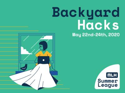 backyard hacks design home event branding event adobe illustrator illustration