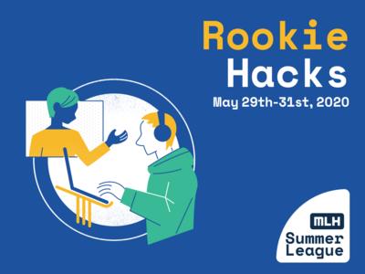 rookie hacks event branding human hackathon adobe illustrator graphic  design illustration