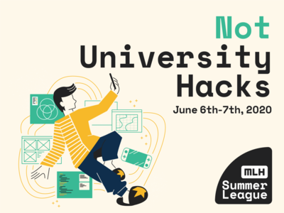 not university hacks home hackathon phone young human high school event branding adobe illustrator graphic  design illustration