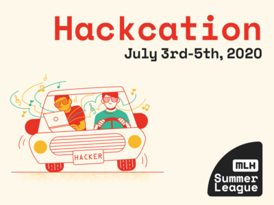 Hackcation vacation human adobe illustrator graphic  design illustration car