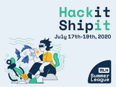 hack It Ship It underwater human angler fish vr sea graphic  design illustration