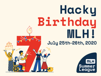 Hacky Birthday MLH graphic  design candle pug birthday human adobe illustrator illustration