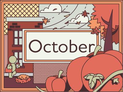 October pumpkin spice fall pumpkins adobe illustrator graphic  design illustration