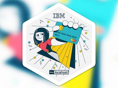 Sticker design hexagon sticker design credit card adobe illustrator graphic  design illustration