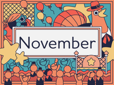 November graphic  design adobe illustrator thanksgiving parade november