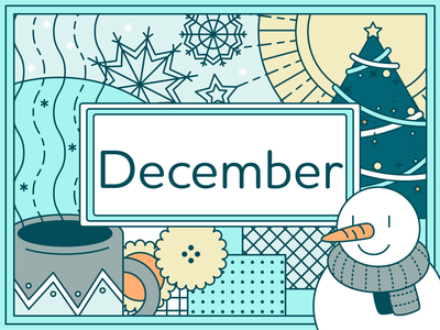 December snowflake snowman illustration adobe illustrator graphic  design december