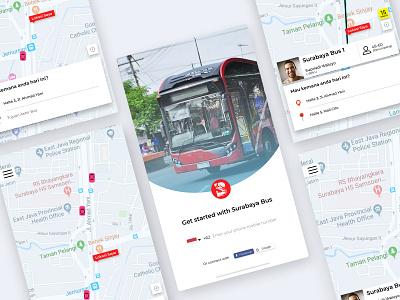 Surabaya Bus Apps ux app flat ui design