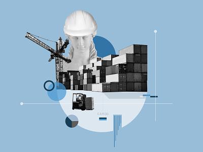 Collage Illustration - Cargo 2d art collage digital illustration collage