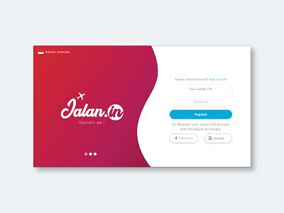UI Design for Jalanin.id - Sign in ui  ux design
