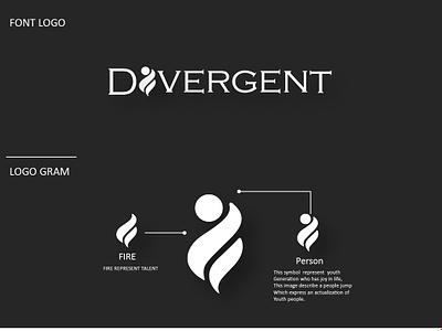 Divergent Logo logo 2d logo design