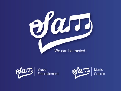 Sams Music Entertainment Logo logo 2d musiclogo branding logodesign logo
