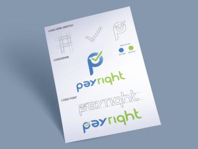 Rebranding - Payright logo logo mark logo design branding logo