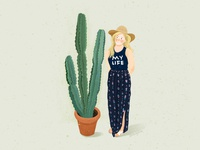 Girls with plants