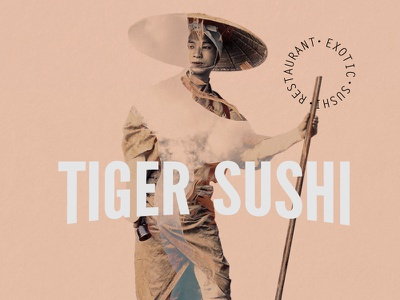 Tiger Sushi Restaurant Project  collage type restaurant food sushi tiger japan