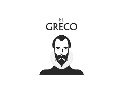 """El Greco"" Logo spain arte typography icon black illustration design branding type logo art"
