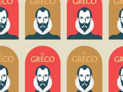 """El Greco"" Logo. Versiones de color arte spain typography icons branding type illustration logo art"
