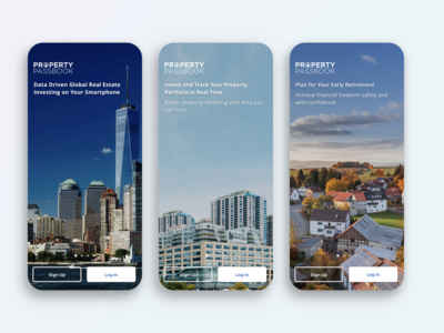 Welcome screen - Property Passbook