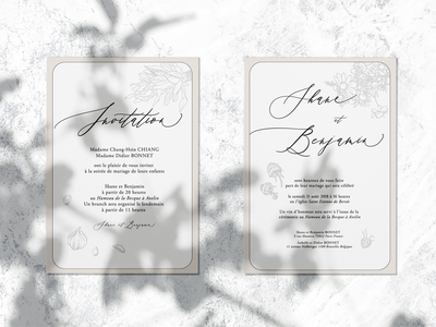 Save the date wedding invitation card - french restaurant