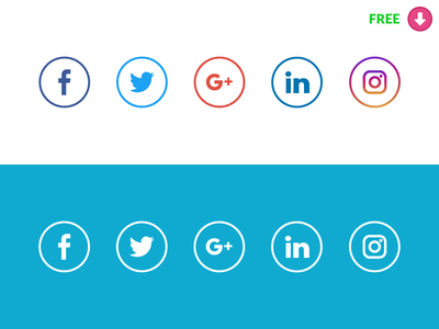 New Free Social Media icons with original colors - Free Vector