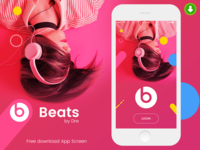 Free Mobile app psd design for Beats by dre