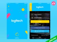 Free Mobile app psd design for Logitech