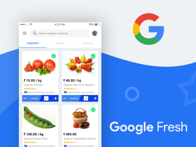 Google Fresh app free ui design
