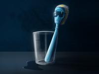 Freaky toothbrush