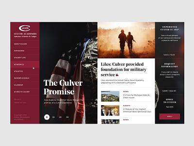 Culver Academies — Index (Concept) corporate ui desktop clean typogaphy simple grid web website