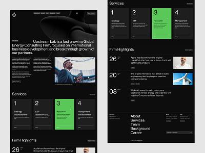 Upstream Lab — Index Desktop 2 desktop ux ui minimal simple typography grid clean website corporate web webdesign main page index page