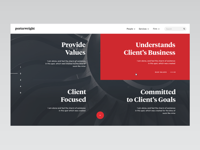 Lawfirm — Values Screen website web ux ui type simple typography minimal law firm law