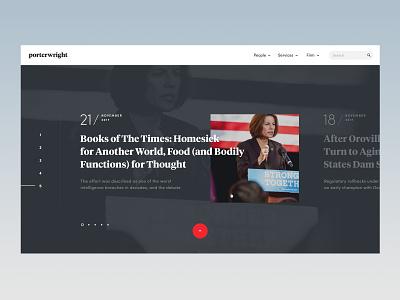 Lawfirm — News grid blue minimal typography attorney lawyer legal law firm law simple website web ux ui news
