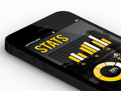 Strength in Motion App fitness exercise black yellow bondi sydney app iphone smart phone strength