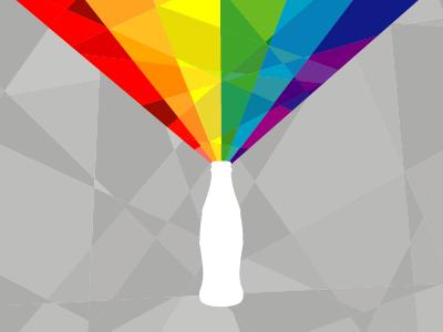 Coke Key Visual coke key visual rainbow crystallise cubism red orange green blue purple poster
