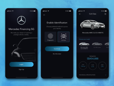 Mercedes Benz Finance App Concept