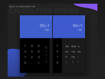 Daily UI Challenge-Design a calculator UI