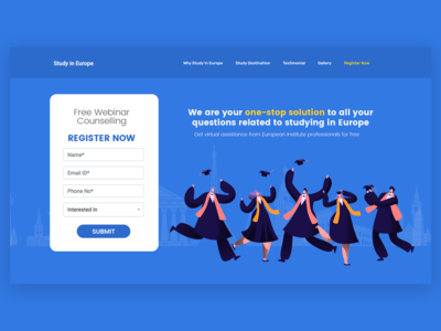 Study In Europe landing page