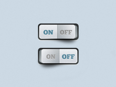 Toggles button ui on off 3d gui mobile