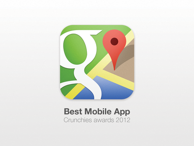 Best Mobile App 2012 map maps google direction icon award crunchies ios iphone mobile winner
