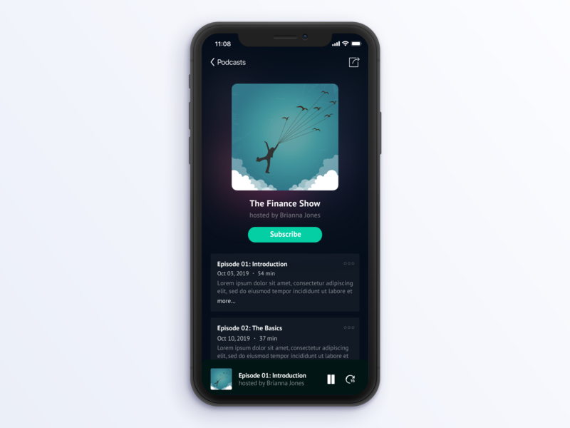Simple Podcast Player Design