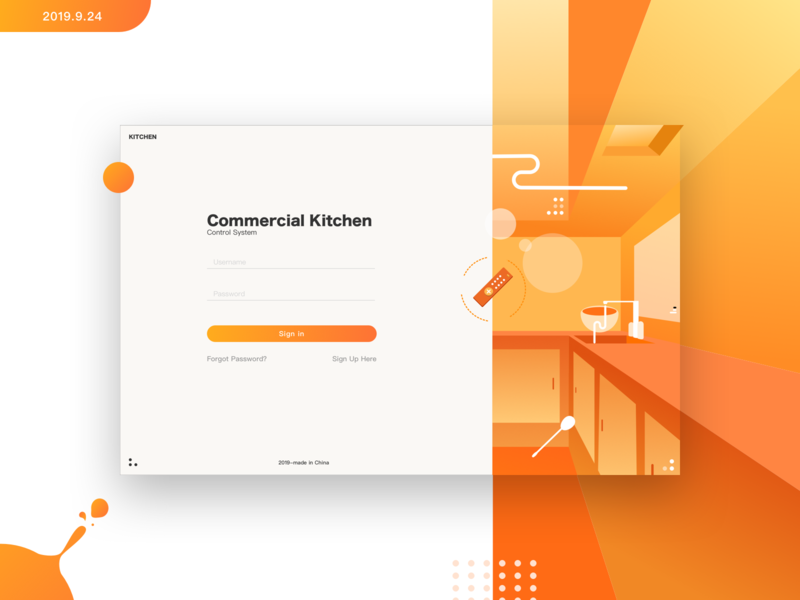 dribbble ux app ui 插图 sign in page