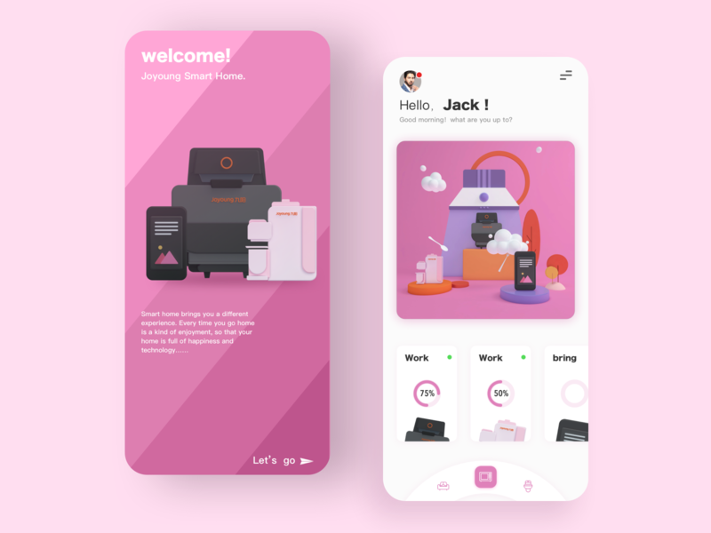 Smart home web sign in page design ui app 插图