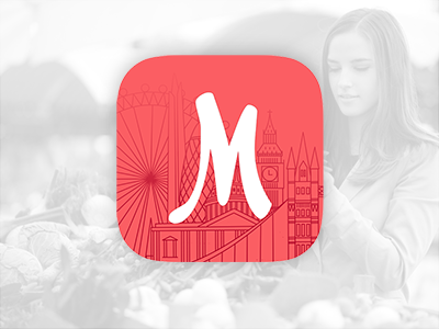 Markt iOS App Icon markets london pink icon ios icon ios app ios app icon ios
